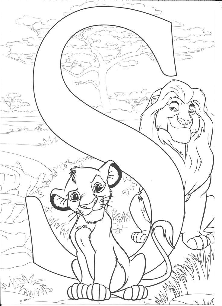 Simba S Coloring Page Disney Princess Coloring Pages Abc Coloring Pages Disney Alphabet