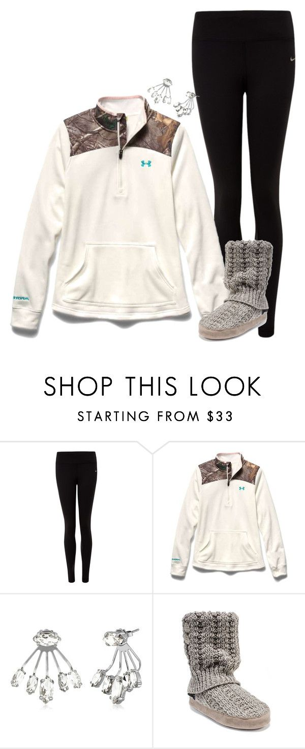 """Well that didn't last long"" by dirtroadprincess ❤ liked on Polyvore featuring NIKE, Under Armour, Rebecca Minkoff and Muk Luks"