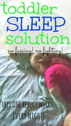 toddler sleep solution - I had never heard of this solution - but it is perfect!  I love it and my kids do, too!