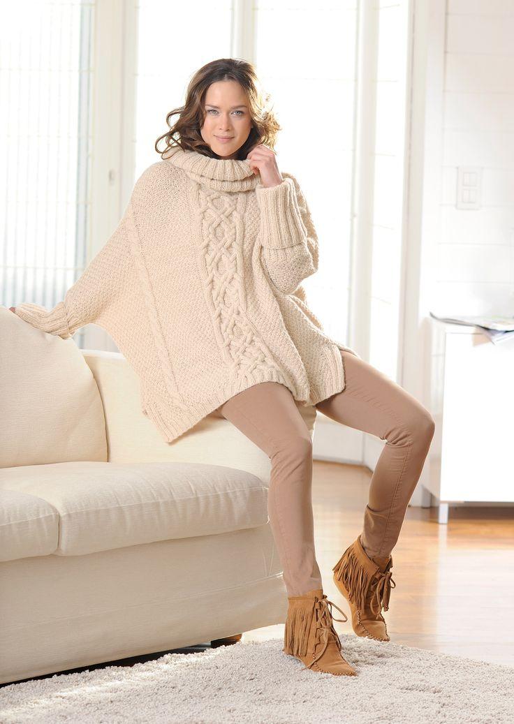 Diese Anleitung für den Poncho ist toll nachzuarbeiten. Der Poncho hält dich wunderbar warm und du kannst ihn bei jedem Wetter und zu jeder Kleidung tragen.
