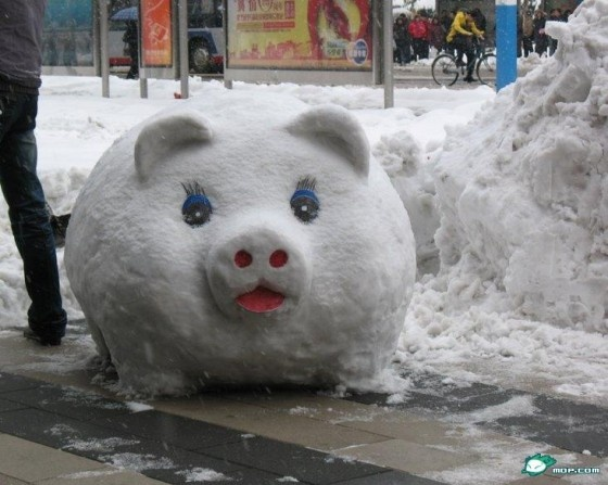 snow sculpture...