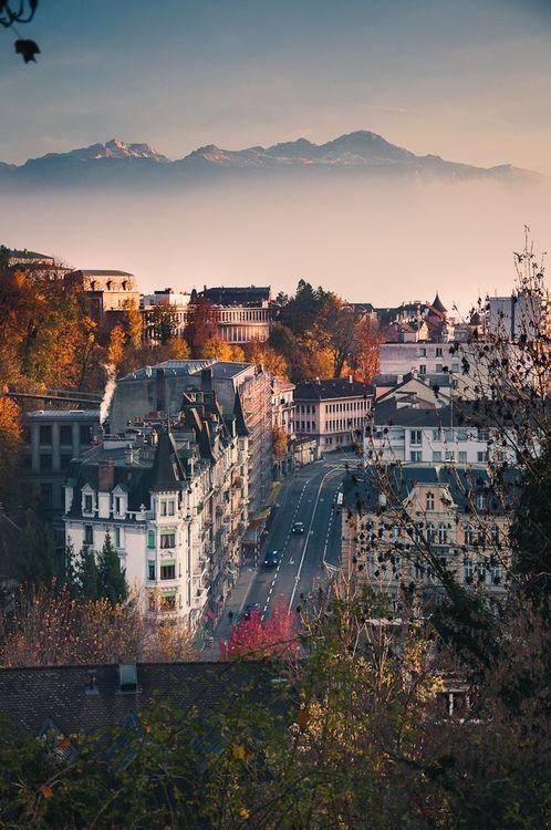 Misty Mountain, Lausanne, Switzerland photo via adrienna