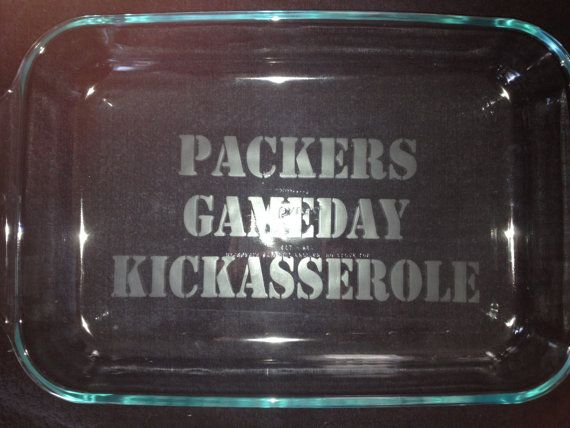 PACKERS Gameday Kickasserole 9x13 Baking Dish by SimplySamanthaLee on Etsy, $26.00