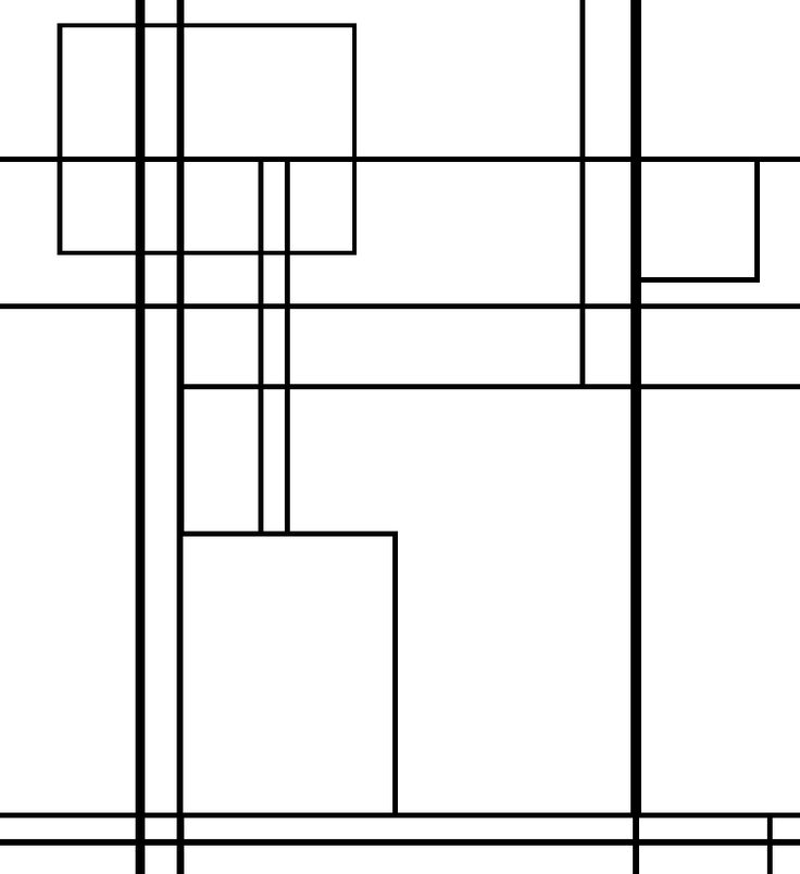 mondrian coloring sheet | mondrian coloriage