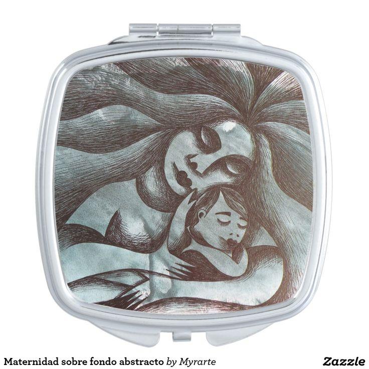 Maternidad sobre fondo abstracto makeup mirror. Producto disponible en tienda Zazzle. Product available in Zazzle store. Regalos, Gifts. Link to product: https://www.zazzle.com/z/3pcdm  #espejo #mirror
