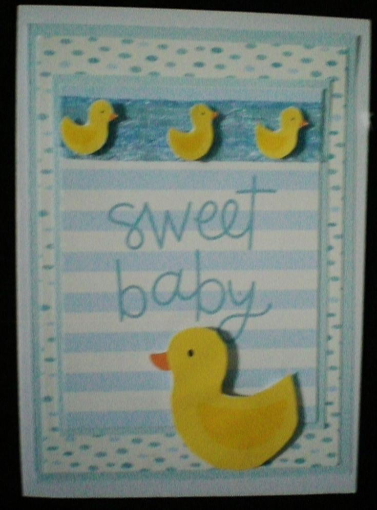ducks and baby blue handmade by Kay