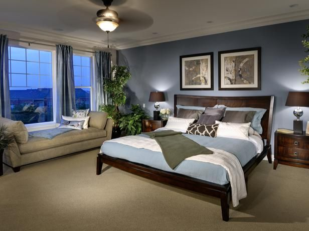 How to Choose Paint Color Schemes: Use the other colors as references to find accent pieces for the room. If you chose a medium color for the walls, then use dark side tables and foamy white throw pillows  or vice versa  to add depth and variety.  From DIYnetwork.com