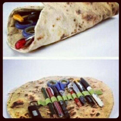 burrito pencil case