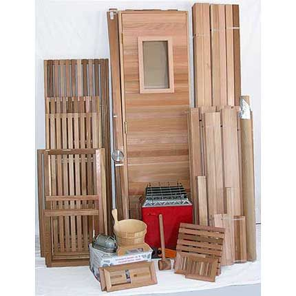 4'x6' Home Sauna Kit | DIY Precut + Heater Package