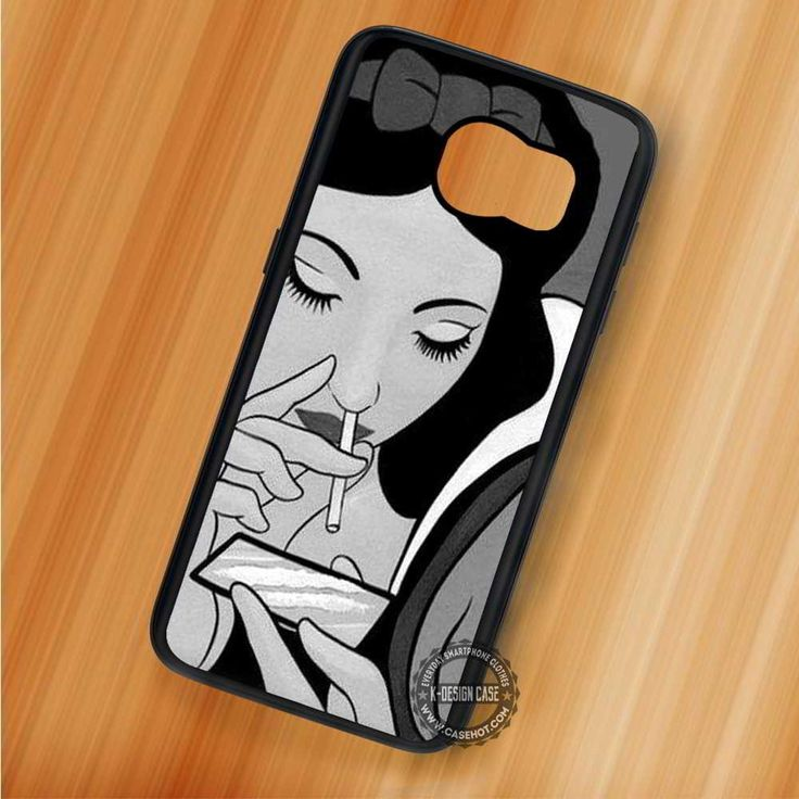 Black & White Smoking Snow White Disney - Samsung Galaxy S7 S6 S5 Note 7 Cases & Covers
