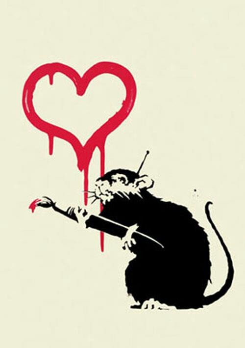 #Banksy #Love Rat