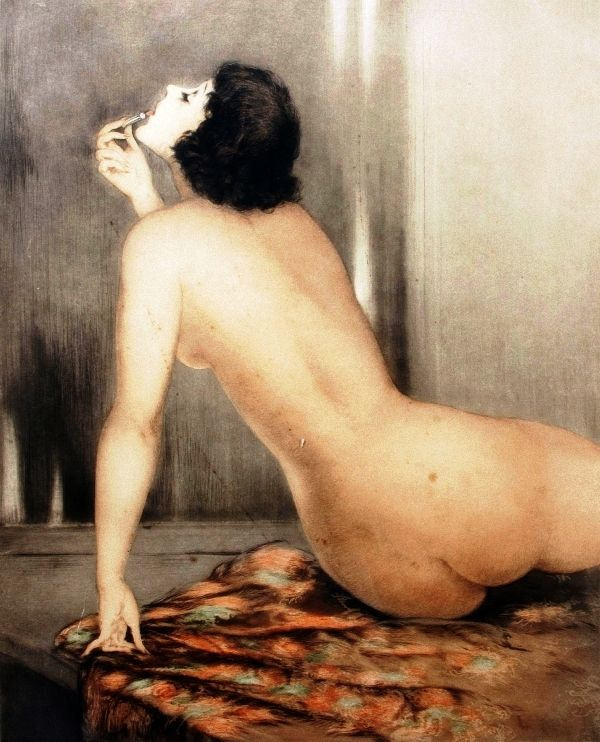 Louis Icart (French, 1888-1950) Modern Eve.