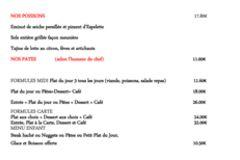 La Jalade Montpellier restaurant présente sa Carte d'hiver et menus
