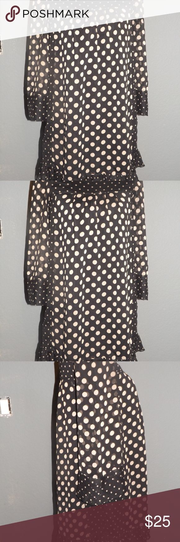 Jovovich Hawk Black Polka Dot Dress Adorable Black and Cream Polka Dot Shift Dress, by Jovovich Hawk for Target. Perfect condition. I would say it would fit an XS to M Jovovich Hawk for Target Dresses