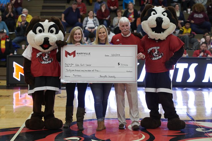 Kids Rock Cancer was the big winner in the fifth annual #1000Saints night held at Maryville University. Nearly 1,400 fans attended the Saints men's and women's basketball event and more than $37,000 was raised for the organization.