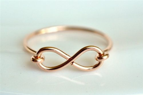 custom INFINITY Ring - in your choice of sterling silver, yellow gold filled, or rose gold filled .... muyinjewelry.com