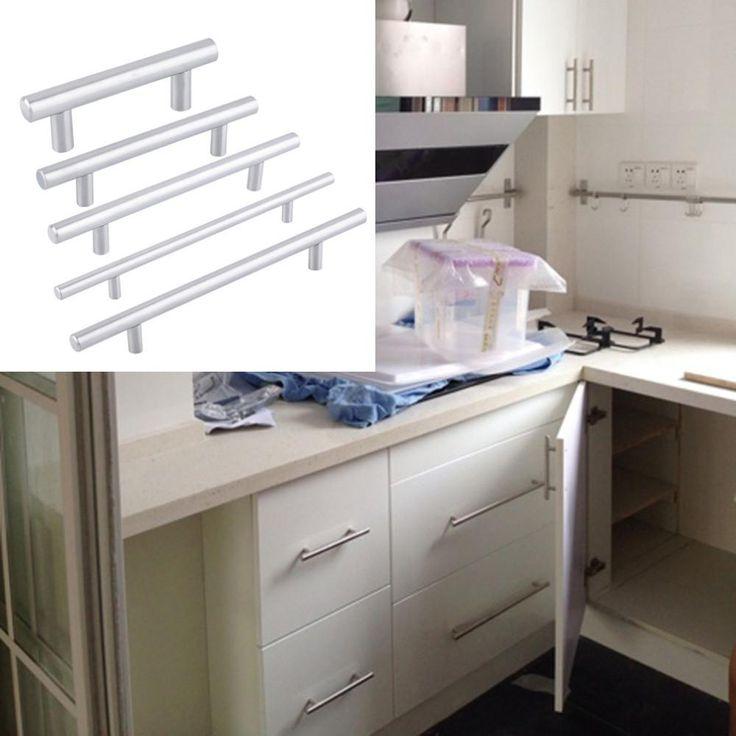 Superb mm mm Stainless Steel Kitchen Cabinet Door T Bar Knob