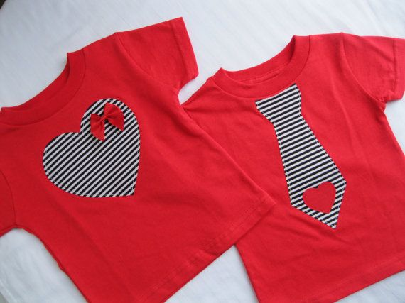 RED Valentine's Day Onesie or Toddler TShirt with by ShopMelissa, $18.50