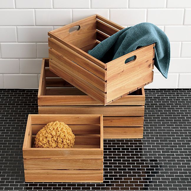 16 Baskets Bottles and Other Beautiful Bathroom Storage : storages boxes - Aboutintivar.Com