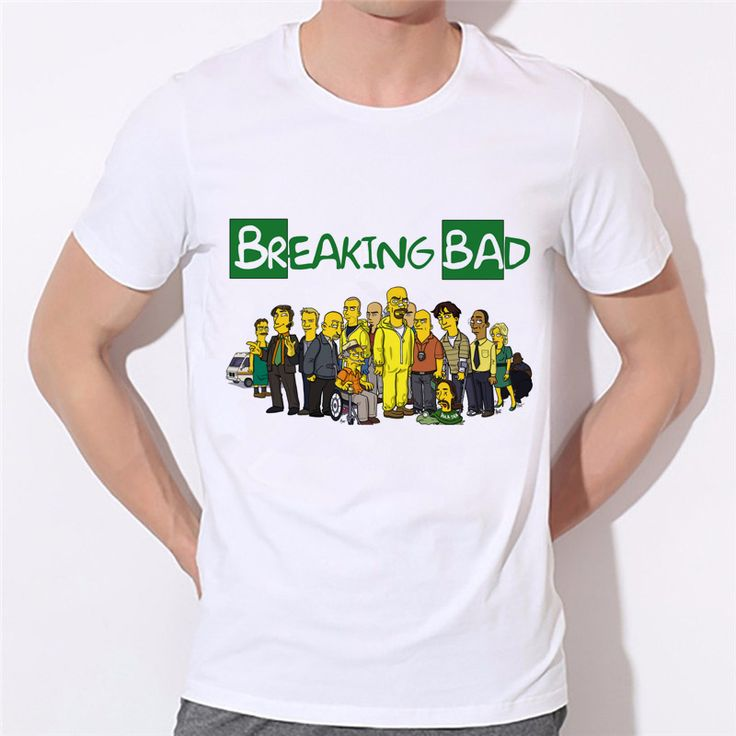 Breaking Bad T Shirts Men funny Man T-Shirts O Neck casual tshirt US Size Tops Factory outlets can be customized 43N-8# #Affiliate