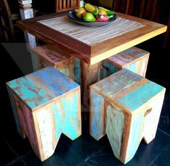 Mesas em madeira demolição | Vilarte Móveis Rusticos em Madeira de demolição em Atibaia