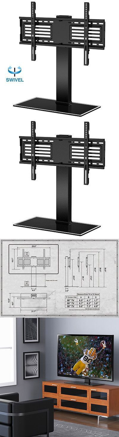TV Mounts and Brackets: Fitueyes Tv Stand With Swivel Mount Pedestal Base For 32-65 Samsung Flat Screen -> BUY IT NOW ONLY: $47.99 on eBay!