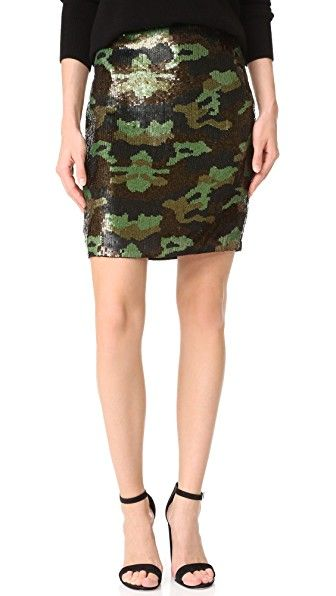 Get this L'AGENCE's tube skirt now! Click for more details. Worldwide shipping. L'AGENCE Phoebe Sequin Skirt: Luxe sequins form a classic camo motif on this unique L'AGENCE pencil skirt. Hidden side zip. Lined. Fabric: Sequined chiffon. 100% polyester. Dry clean. Imported, India. Measurements Length: 19in / 48cm Measurements from size 4 (falda de tubo, tubos, corte de tubo, ajustada, ponti, pencil, stretch, ajustadas, tube, tight, waisted, bodycon, slim fit, schlauchrock, falda de tubo, jupe…