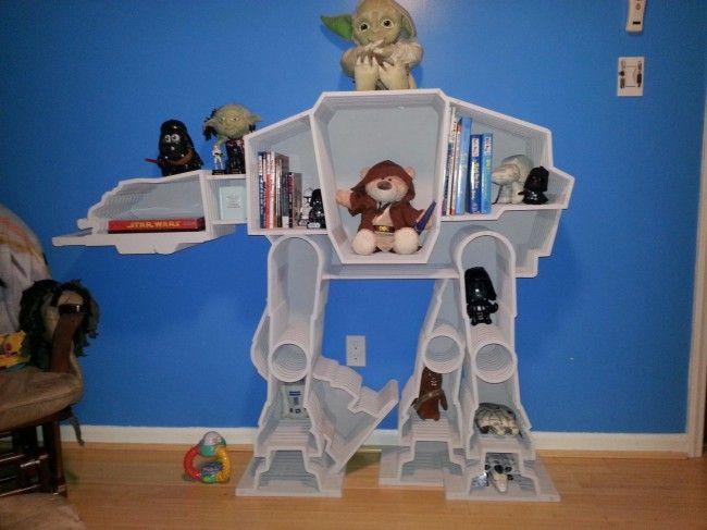 Star Wars Baby Nursery: Geek, Bookshelves, War Atat, Idea, Starwar,