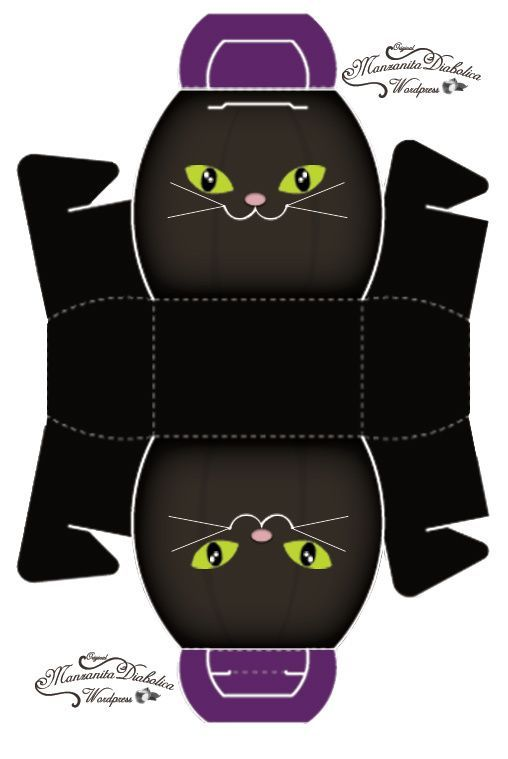 Best 25 gato halloween ideas on pinterest empapelado de - Manualidades de gatos ...