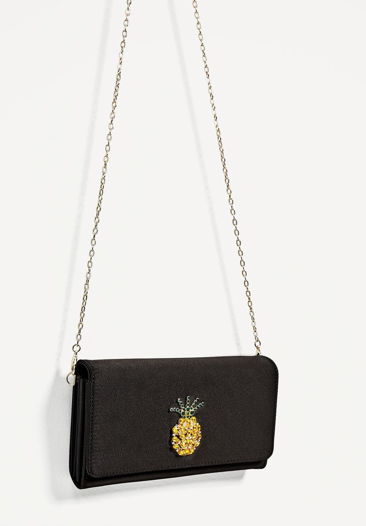 MINI CROSSBODY BAG WITH PINEAPPLE DETAIL