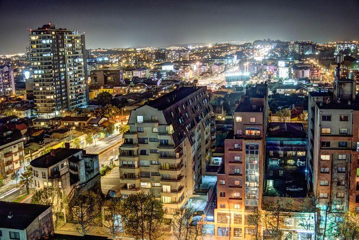 Concepción nocturno desde la terraza del edificio Gold. Foto de Francisco Mendez.