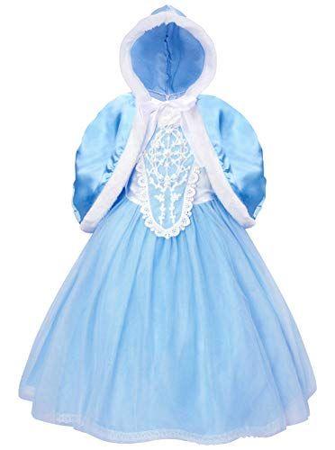b13646b785cb Cotrio Elsa Dress Little Girls Princess Costume Dress Up Halloween ...