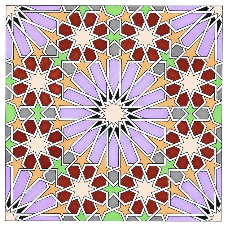 Alhambra Art - 2. Drawing by Ton Ensink