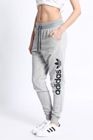 Pantaloni trening dama Adidas cu talie joasa conici