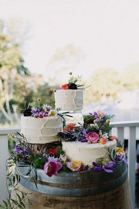 3 Tipps und 20 Ideen, wie Sie Ihre Hochzeitstorte präsentieren können #Tipps #Ideen #Anzeigen #Hochzeit …   – Wedding cake rustic