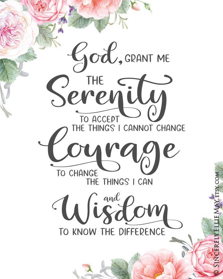 God Grant Me The Serenity Christian Prayer Wall Art Gift Card Etsy Serenity Prayer Quotes Serenity Prayer Wallpaper Serenity Prayer Poster