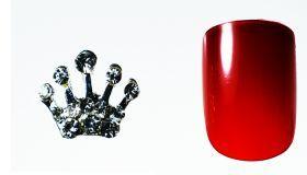 FF Nail Art Kit Κόσμημα A, Νο 1 (2 Τεμ.) Κοσμήματα Nail Art για μοναδικά nail design. Είναι κατάλληλα για τεχνητά νύχια (ακρυλικό και gel) καθώς και για σχέδια σε μόνιμο βερνίκι.  Το νύχι της φωτογραφίας είναι ενδεικτικό για να κατανοήσετε το μέγεθος του κοσμήματος και αντιστοιχεί σε ένα μεσαίο γυναικείο νύχι (δείκτης ή παράμεσος) μικρού μήκους. Αναλογία σε tip: 6-7 νούμερο. Τιμή €3.00