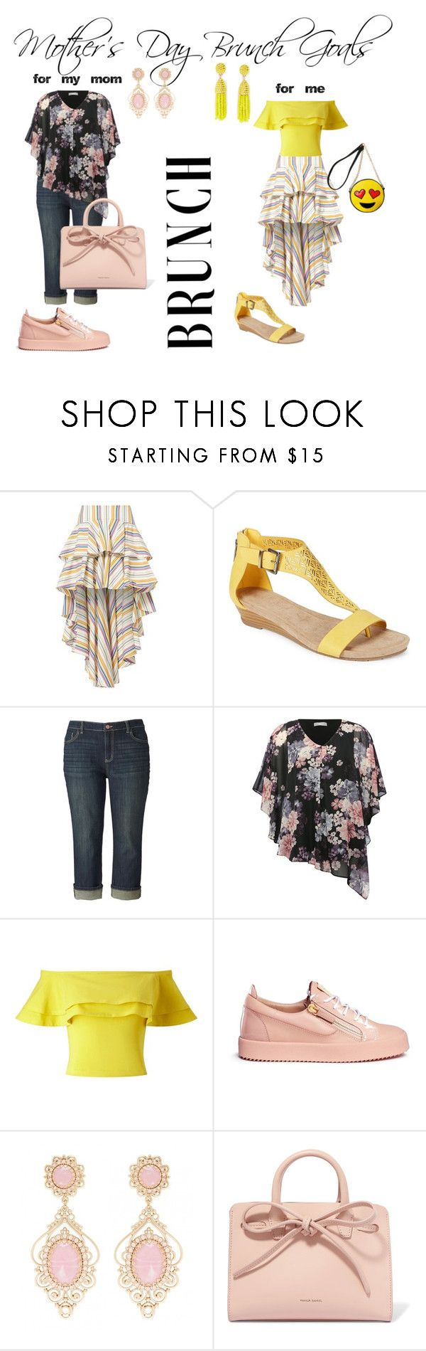 """""""Mother's Day Brunch Goals"""" by tanyakc on Polyvore featuring мода, Caroline Constas, Kenneth Cole Reaction, Simply Vera, M&Co, Miss Selfridge, Giuseppe Zanotti, Mansur Gavriel, Olivia Miller и brunch"""