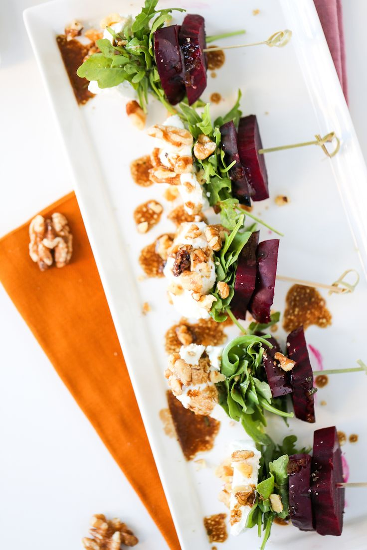 Beet Salad on a Stick // Salty Canary