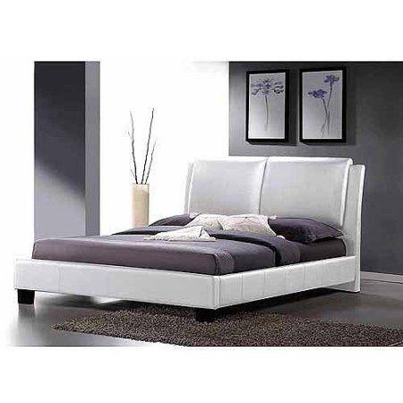 Baxton Studio Sabrina Modern Full Platform Bed With Overstuffed