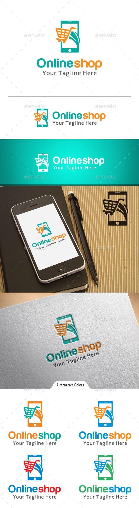Online Shop  - Logo Design Template Vector #logotype Download it here: http://graphicriver.net/item/online-shop-logo/10863207?s_rank=999?ref=nexion