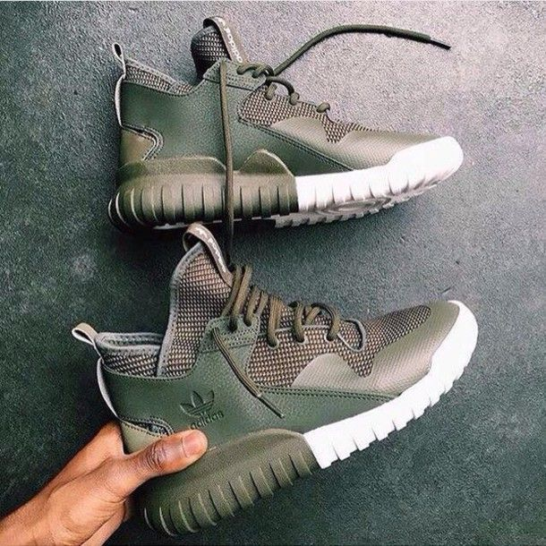 Shoes: adidas, adidas shoes, green sneakers, nike, olive green, cute, fetch, pretty, sexy, high top sneakers, sneakers, sneakers adidas, girls sneakers - Wheretoget