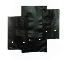 Nursery Grow Bags, black with holes, are used to cultivate and grow seedlings into plants or various different fruit and vegetables. Nursery Bags are a cost effective replacement for rigid containers. Nursery Grow Bags are available in 3 standard sizes, black, with holes More plants can be stored per square metre using Nursery Grow Bags. Nursery Grow Bags stimulate root growth and therefore the plants are about 15% bigger.   http://odysseypackaging.co.za/nursery-grow-bags/