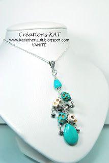 Créations Kat bijoux artisanaux: Collier, tête de mort, www.katietheriault.blogspot.com
