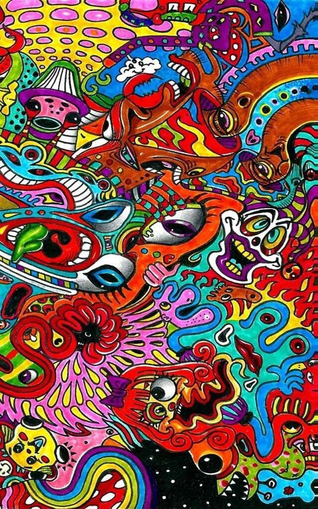 Pin On Psychedelic Art Weed