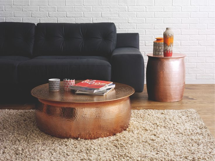 habitat hammered coffee table 2