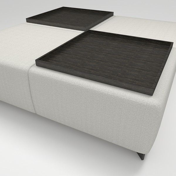 Ottoman Coffee Table Tray Uk: Christian Liaigre Ottoman With Trays