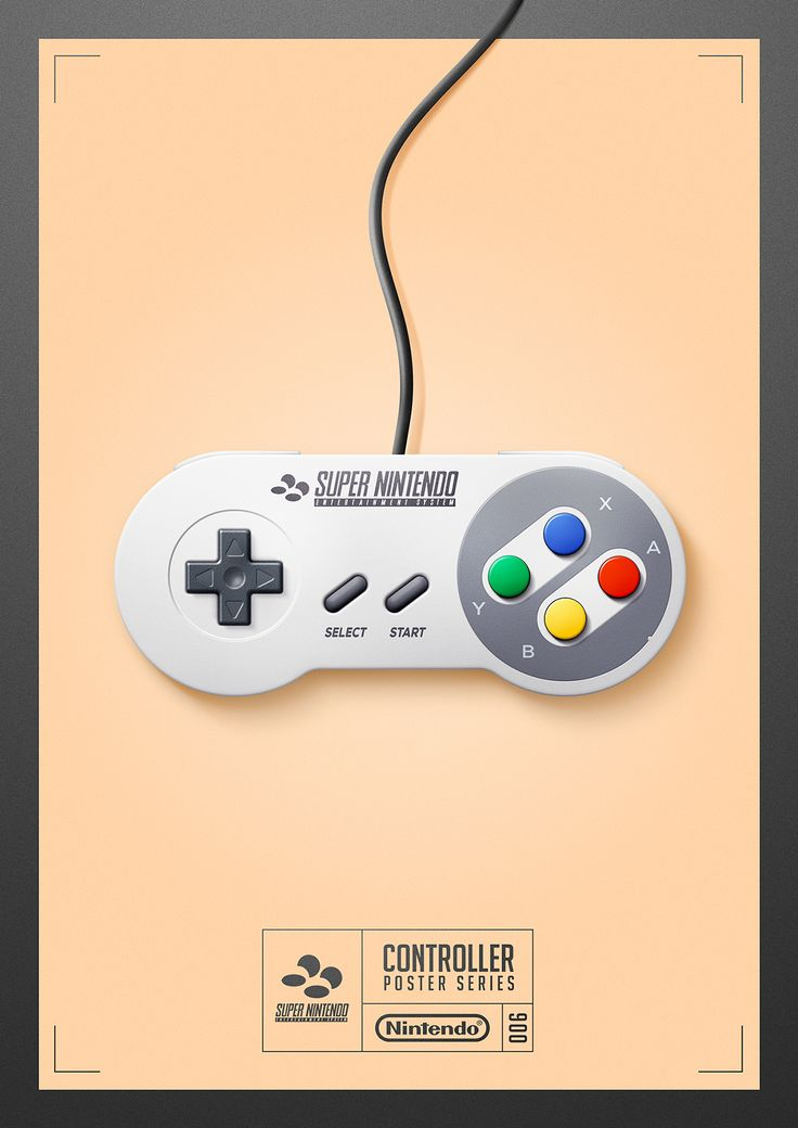 #SNES #SuperNintendo - Controller Poster Series 006 by Quentin Fevre on Behance