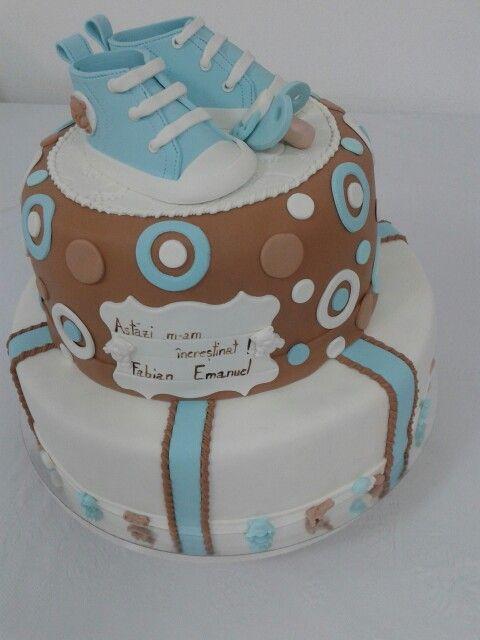 Cake baptism boy