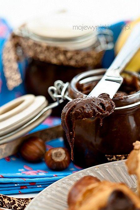 Krem z orzechów laskowych i czekolady